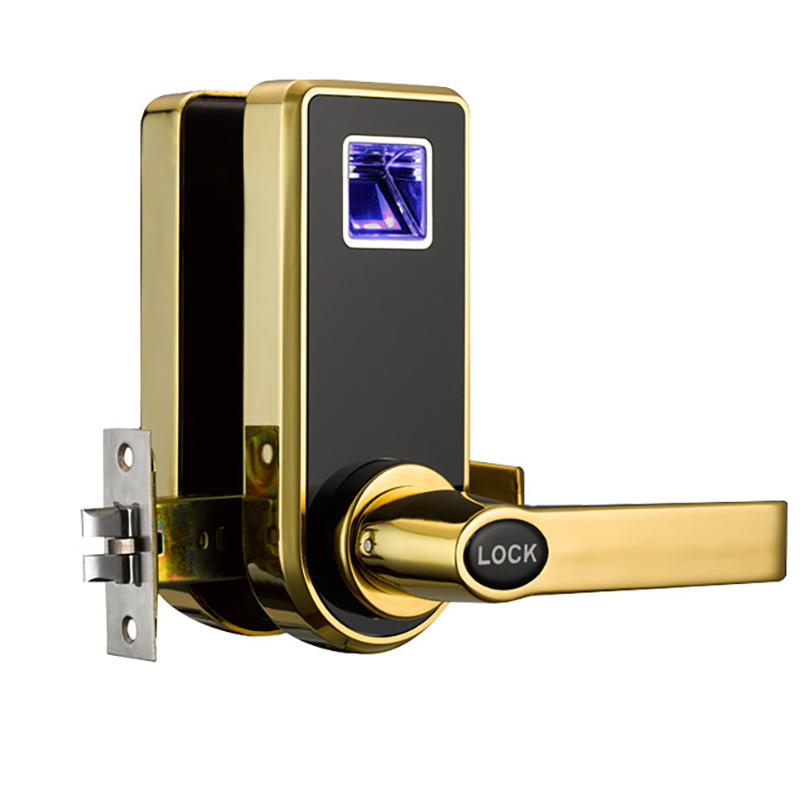 Biometric Electric Door Lock Digital Smart Fingerprint , 2 Keys, Electronic Intelligent Lock Smart Entry Deadbolt 818Fingerprint digital electric best rfid hotel electronic door lock for flat apartment