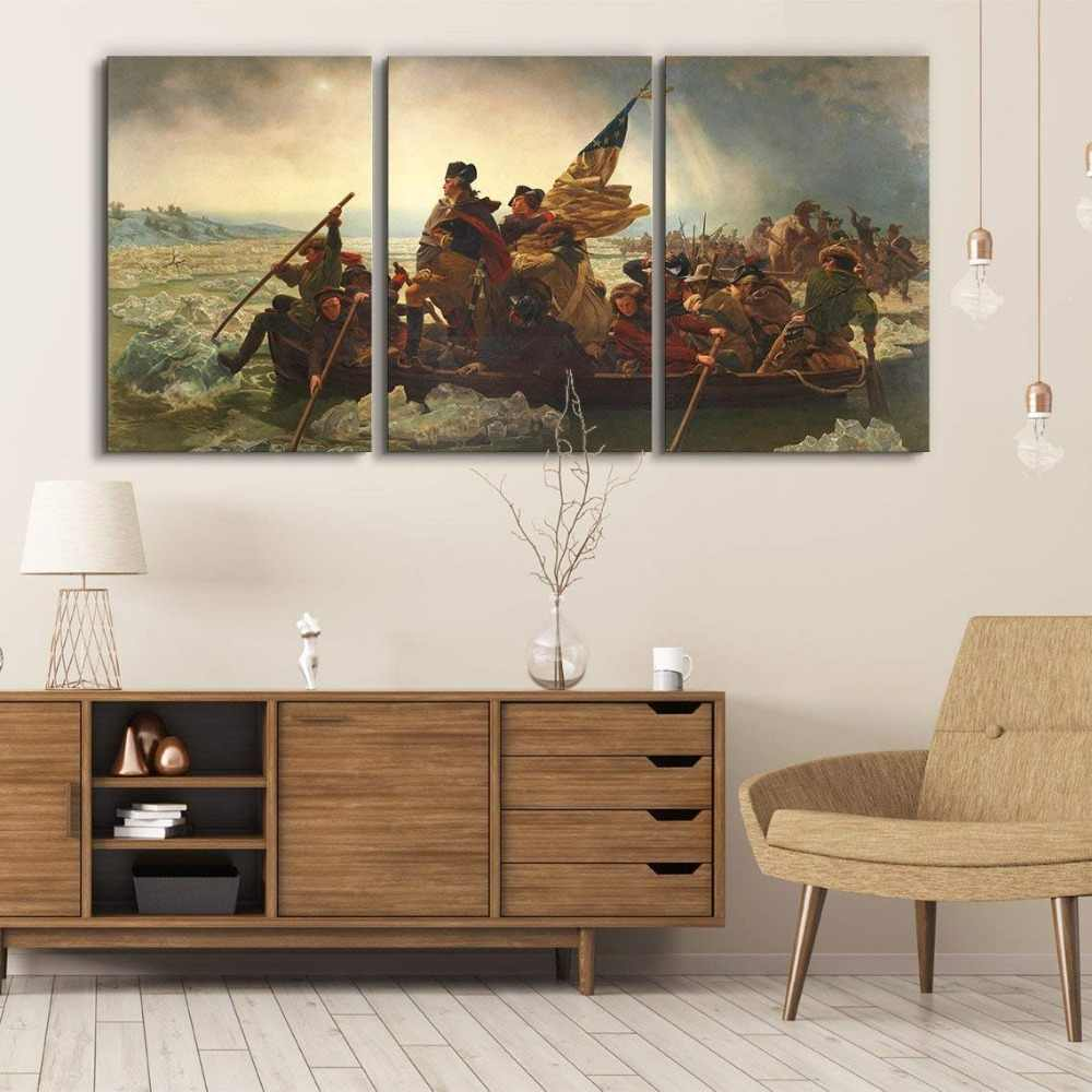 3 Panel World Famous Painting Reproduction On Canvas Wall