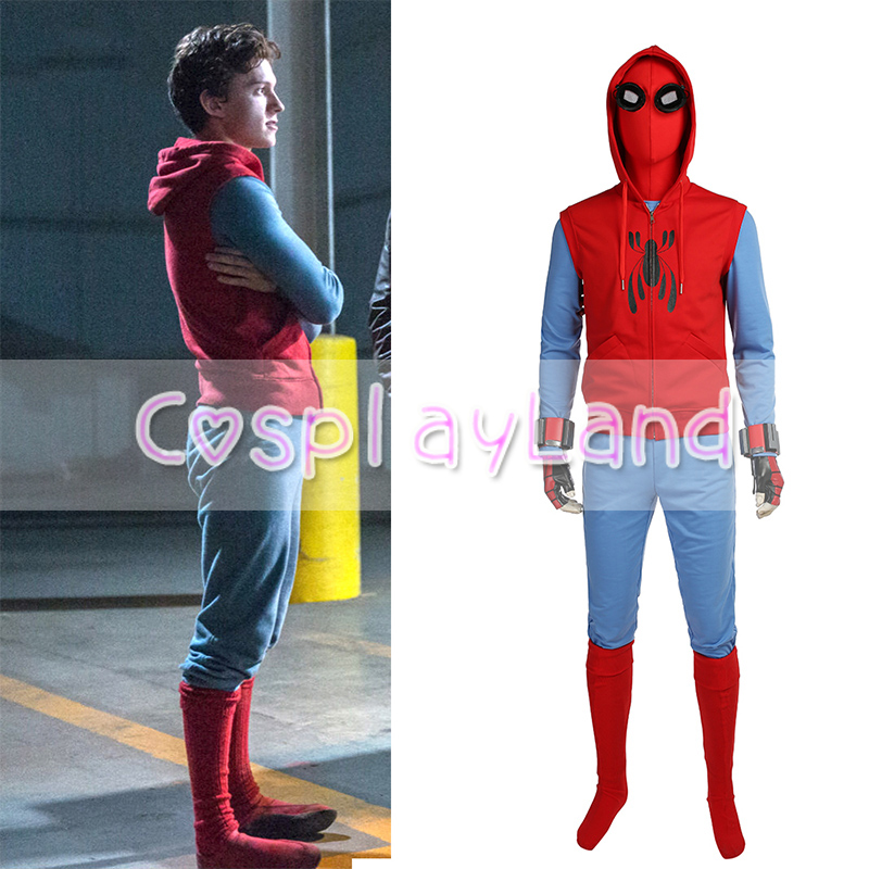 Spiderman Homecoming Cosplay Costume Tom Holland Spiderman Costume Halloween Costumes For Men Suit Outfit Costumes