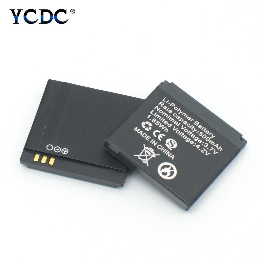 1piece 3.7V Rechargeable Li-ion Polymer Battery 500mAh Li-polymer Batteries Replacement For Q18 Wrist Watch Smart Watch 1.85Wh