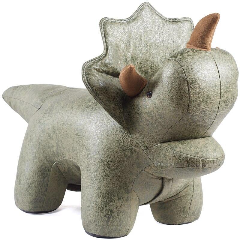 Créatif Triceratops animal canapé tabouret enfant siège dessin animé forme chaussure banc dinosaure assis tabouret