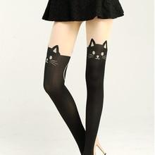 New Women  Sexy Cat Tail Velvet Knee High Socks Hosiery Tattoo Stockings  PY3