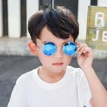 Plinth Little Round Kids Sunglasses Boyes Baby Girls Vintage Mirror Children Sun Glasses Photochromic Luxury Brand EyeGlasses