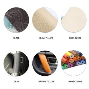 Image 5 - Skóra bydlęca do naszycia pokrywa do klamki dekoracji wykończenia dla BMW X5 E70 X6 E71 2007 2008 2009 2010 2011 2012 2013