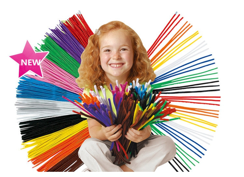 100pcs / Set Colorfu DIY Montessori materialları Chenille Puzzle - Bulmacalar - Fotoqrafiya 2