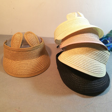 Bentain Summer Empty Top Wide Brim Straw Visor Cap for Baby Photo Props Sun  Hat for 28898b6bc184