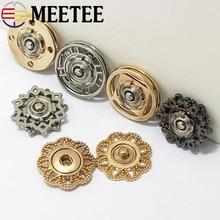10pcs Meetee 21/25mm Hollow Metal Snap Buttons Sewing Stud Fastener for Coat Jacket Garment Scrapbook Accessories ZK504