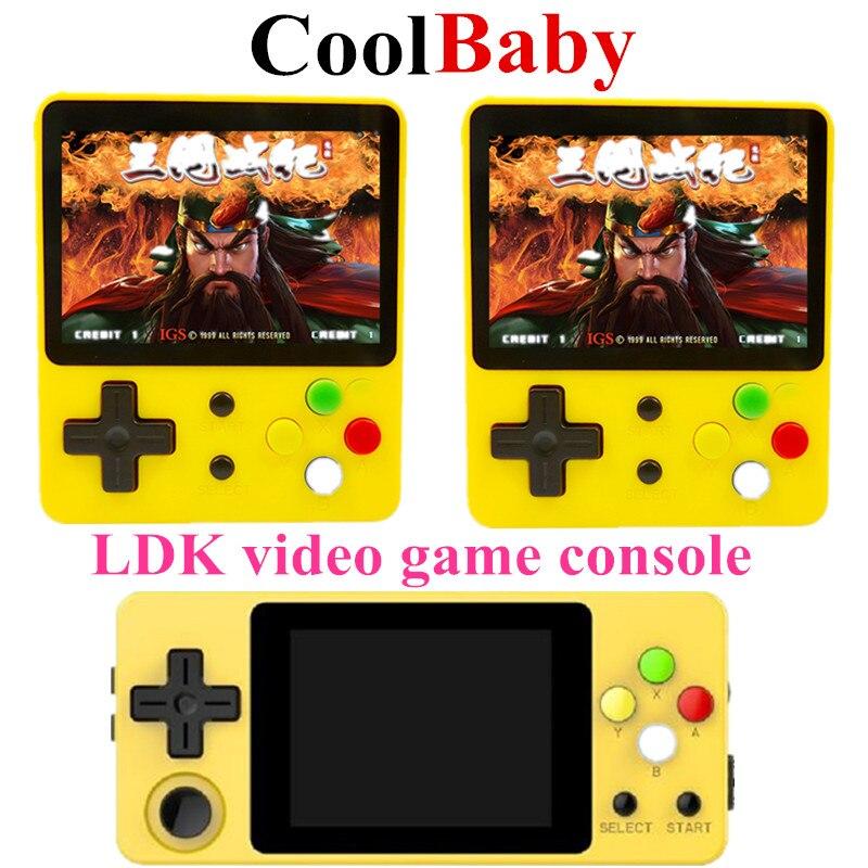 CoolBaby LDK console de jeu 2.6 pouces ou écran horizontal MiniRetro joueurs de jeu portables HD rétro Mini consola garçon tetris