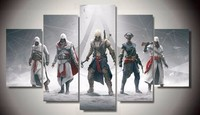 Oprawione 5 Panel Assassins Creed Cuadros Decoracion Obrazy Na Płótnie Ściany Sztuki Do Dekoracji Domu Dekoracje Ścienne Artwork PENGDA