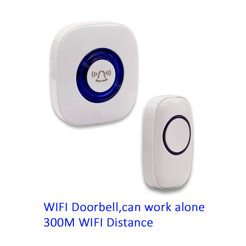 Wifi Doorbell EU/US/UK plug 52 Songs Optional Waterproof Touch Button Smart Home Welcome ...