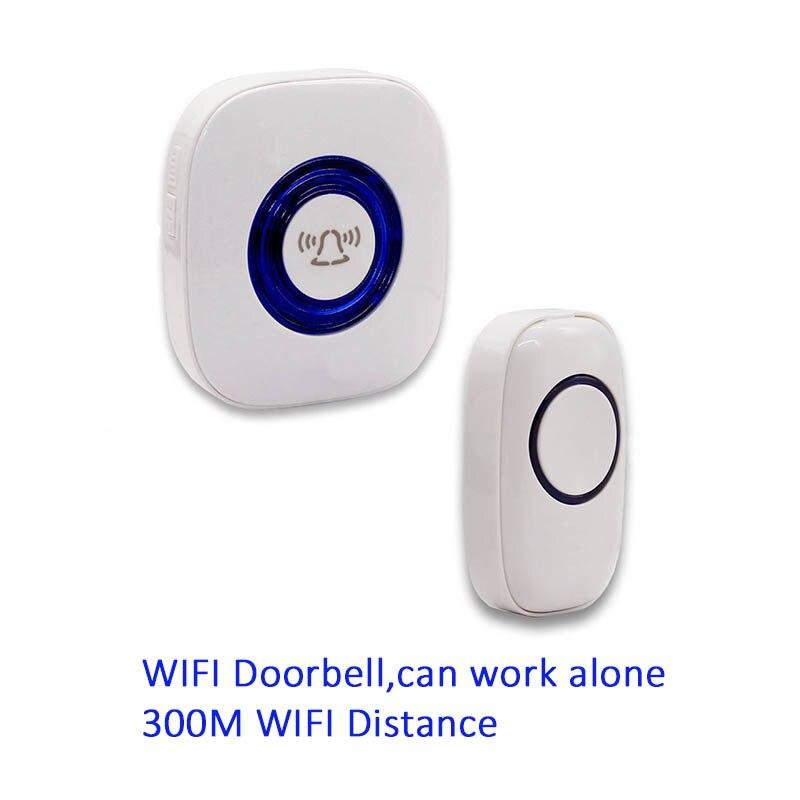 Wi-Fi Дверные звонки EU/US/UK plug 52 песен опционально Водонепроницаемый сенсорная кнопка Умный дом Добро пожаловать дверной звонок