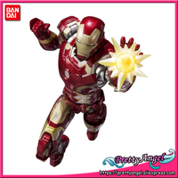 PrettyAngel Genuine BANDAI SPIRITS Tamashii Nations S.H.Figuarts SHF Iron Man Mark 43 Action Figure