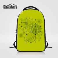 Dispalang Vector Geometric Women Daily Daypacks Large Capacity Laptop Backpack For 14 Inch Notebook Children School