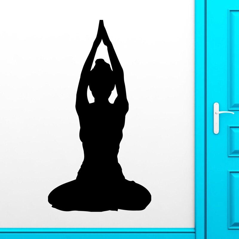 Buddha Quotes Namaste Wall Decals Yoga Mandala Wall Stickers Living Rooms DIY Home Decor Yoga Decoration