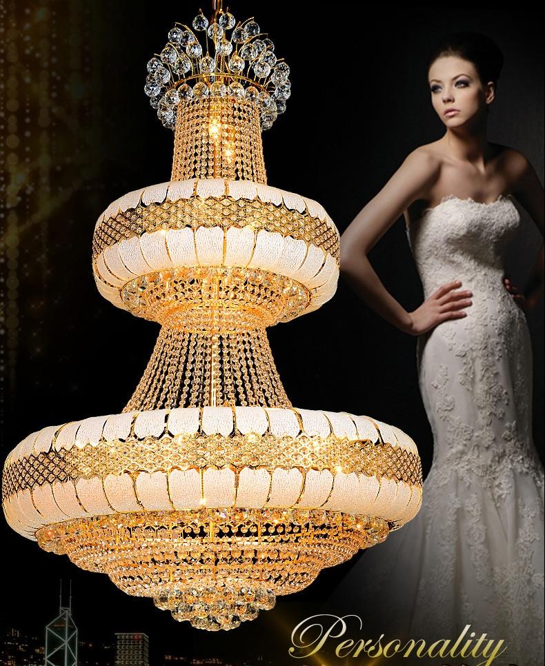 LED Avizeler Işıklar Fikstürü Altın Kristal Avize Altın Ev - İç Mekan Aydınlatma - Fotoğraf 2