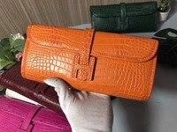 100% genuine crocodile leather skin women clutch wallets and purse long size women clutch purse lady evening case holder