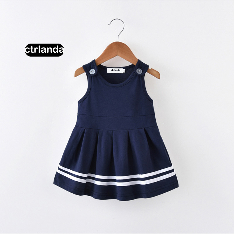 2017 summer children clothes toddler girl cotton sleeveless dresses fashion brand one-pieces knee length casual girls sundress