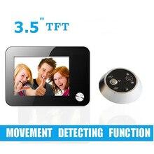 Free que envía 3.5 pulgadas pir motion detección de puerta cámara de grabación de vídeo automática puerta de vídeo digital mirilla visor de la cámara