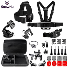 SnowHu For Gopro Hero Y90 Accessories Trochal disk Helmet band Chest band Large bag For Go pro hero 7 6 5  for EKEN H9 xiaomi yi все цены