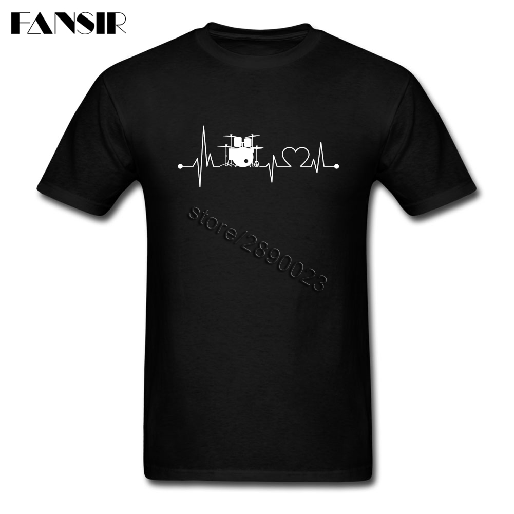 Высокое качество футболки Для мужчин; короткий рукав o Средства ухода за кожей Шеи сердцебиение Барабаны ребята одежда Топы корректирующие ...
