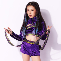 Modern Child Hip Hop Clothes Dance Costumes For Girls Jazz Dancing Costume Stage Competition Outfit For Kids Dancewear DL3126