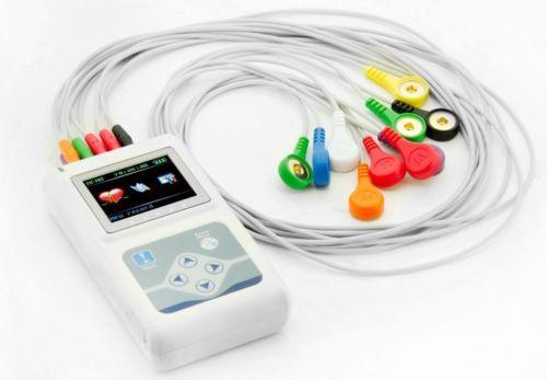 Contec Fabrikant verzending 12 Kanalen Contec TLC5000 Hand held ECG/EKG Holter Recorder Systeem CE FDA Gecertificeerd - 2