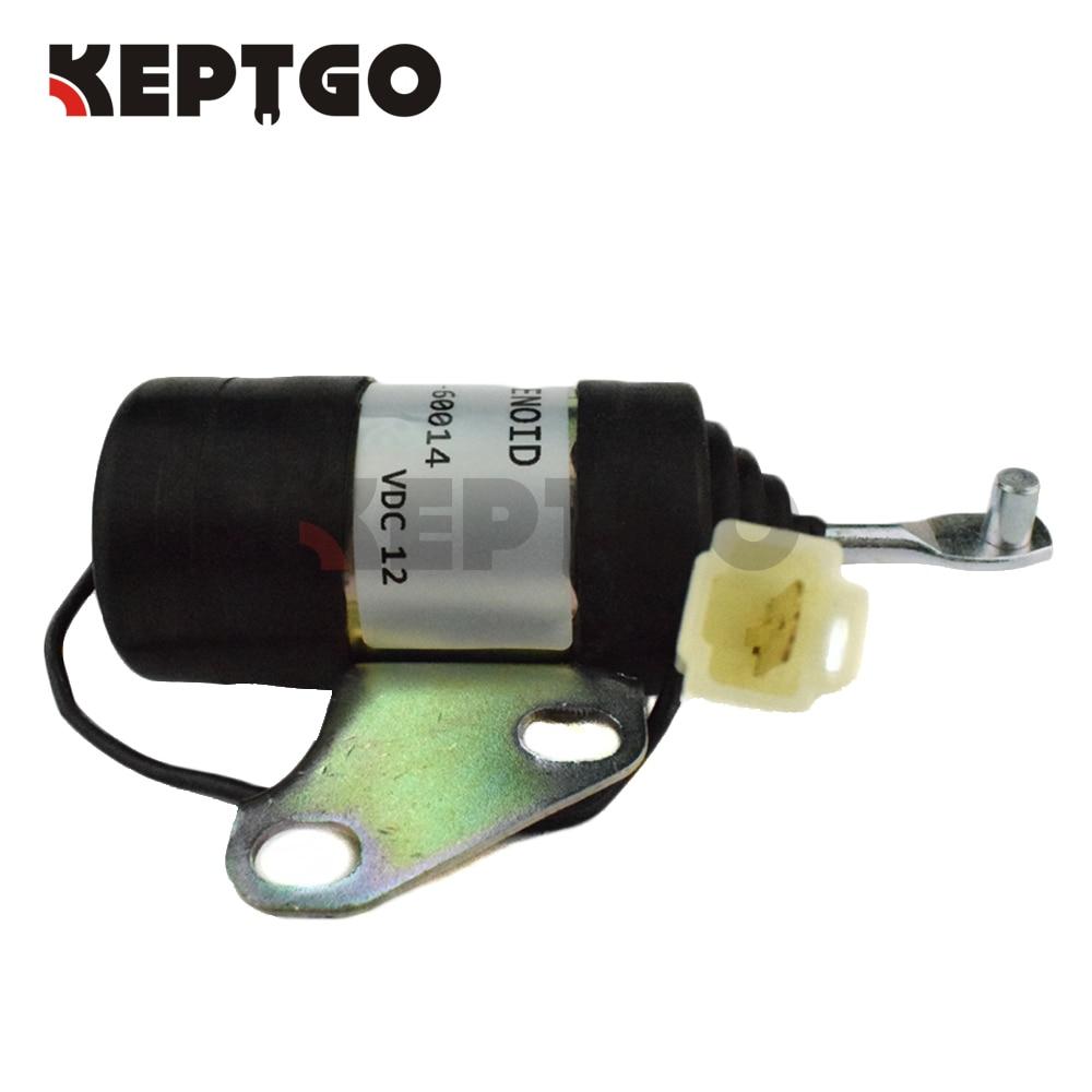 16851-60014 16851-60010 12V Stop Solenoid For Kubota RTV900R RTV900S RTV900T RTV900W 052600-4530 16851-60011 for kubota fuel shut off solenoid 16851 60010 16851 60014 052600 4531 for denso b7410d bx1500d bx1800d
