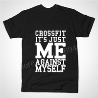Workout Fitness Gear Wear For Running T Shirt CrossFit Me Against Myself Eco T Shirt Men