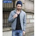 Nuevo otoño y el invierno 2017 de los hombres boutique de plumas de plumas de pato moda collar del soporte de ocio por la chaqueta/Hombres de Gran tamaño abrigos