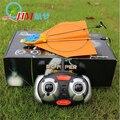 Regalo creativo HM830 papel aeroplano eléctrico de RC Control remoto 2.4 GHz 2CH avión fácil de volar juguetes de los niños resistentes a roturas luz