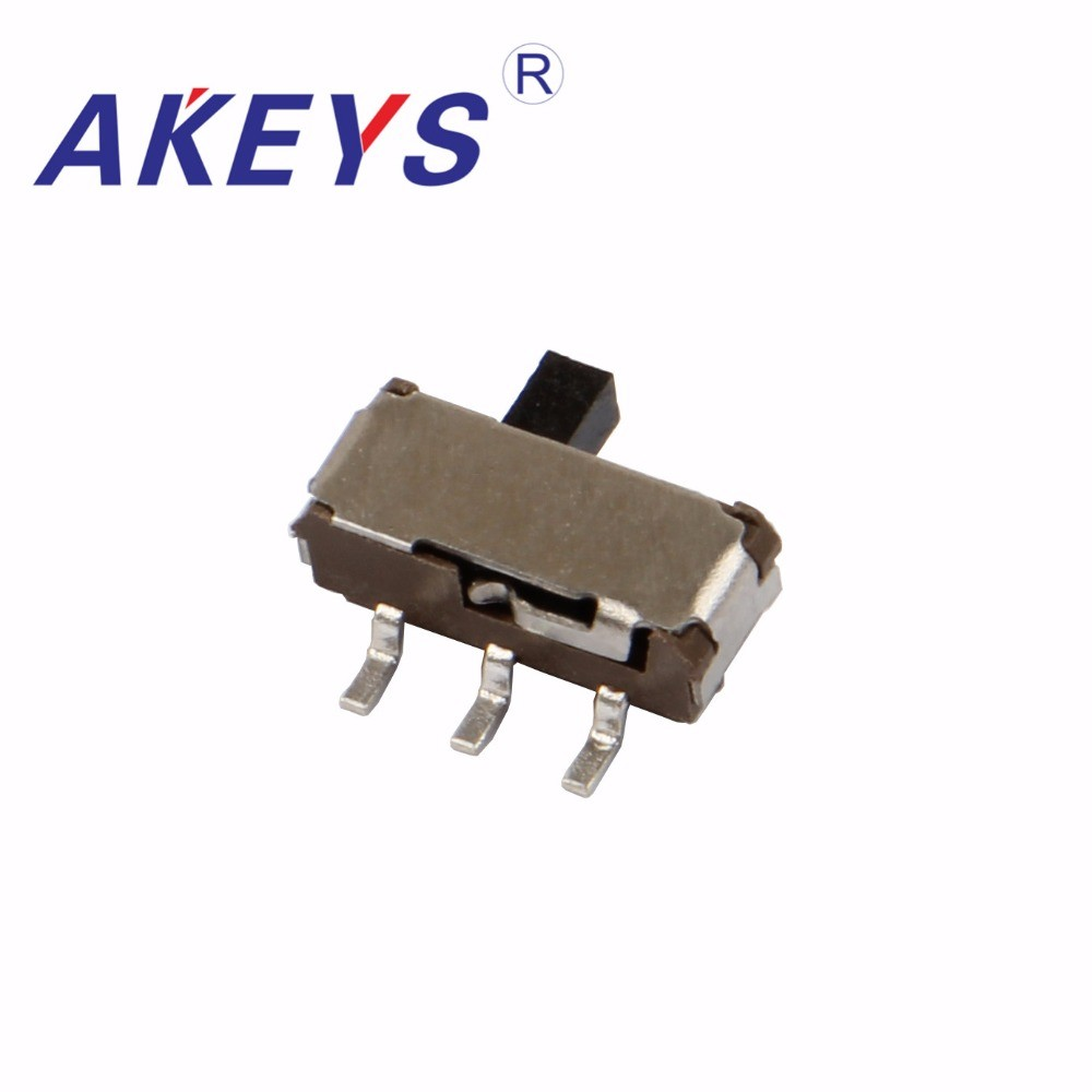 Switches 30pcs Msk-22d14 Mini Slide Switch 2p2t Dpdt Smd Smt 3 Pin Side Slide With Fixed Pin With Column Msk-22d18g2-t Beneficial To Essential Medulla
