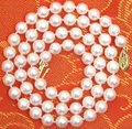 """SALE AAA 6-7mm Natural AKOYA Saltwater Pearl 17"""" necklace SOLID GOLD CLASP-nec5501 Wholesale/retail"""