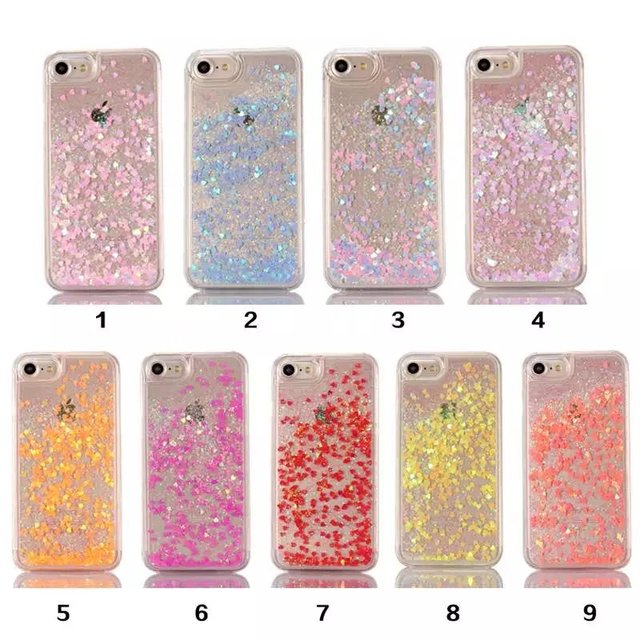 hot sale online 5fa65 7b66c US $1.94 5% OFF|Discolor Twinkle Lover Glitter Flowing Liquid Case For  iPhone 8 7 7 plus 6 6s plus 5 5s SE 4 4S Clear Cover Plastic Phone cases-in  ...