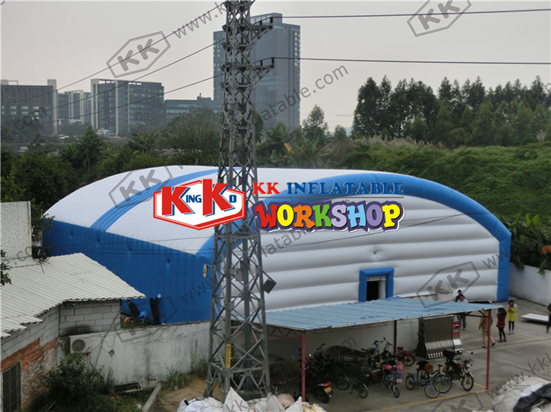 Ventilated super tent Mobile temporary warehouse Large factory inflatable tent