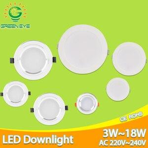 Серебристо-белый Ультра яркий светодиодный светильник 3 Вт 5 Вт 10 Вт 15 Вт тонкий круглый светодиодный потолочное утопленное пятно светильни...