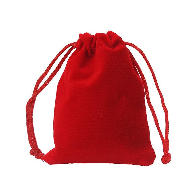 1 Teil/beutel 8*10 Cm Geschenk Taschen Schmuck Beutel Rot Samt Kordel Tasche Tasche QualitäTswaren