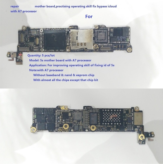 US $17 0  connectors repair for iPhone 5s board,practising operating skill  fix bypass icloud for iPhone 5s,with A7 processor-in Connectors from Lights