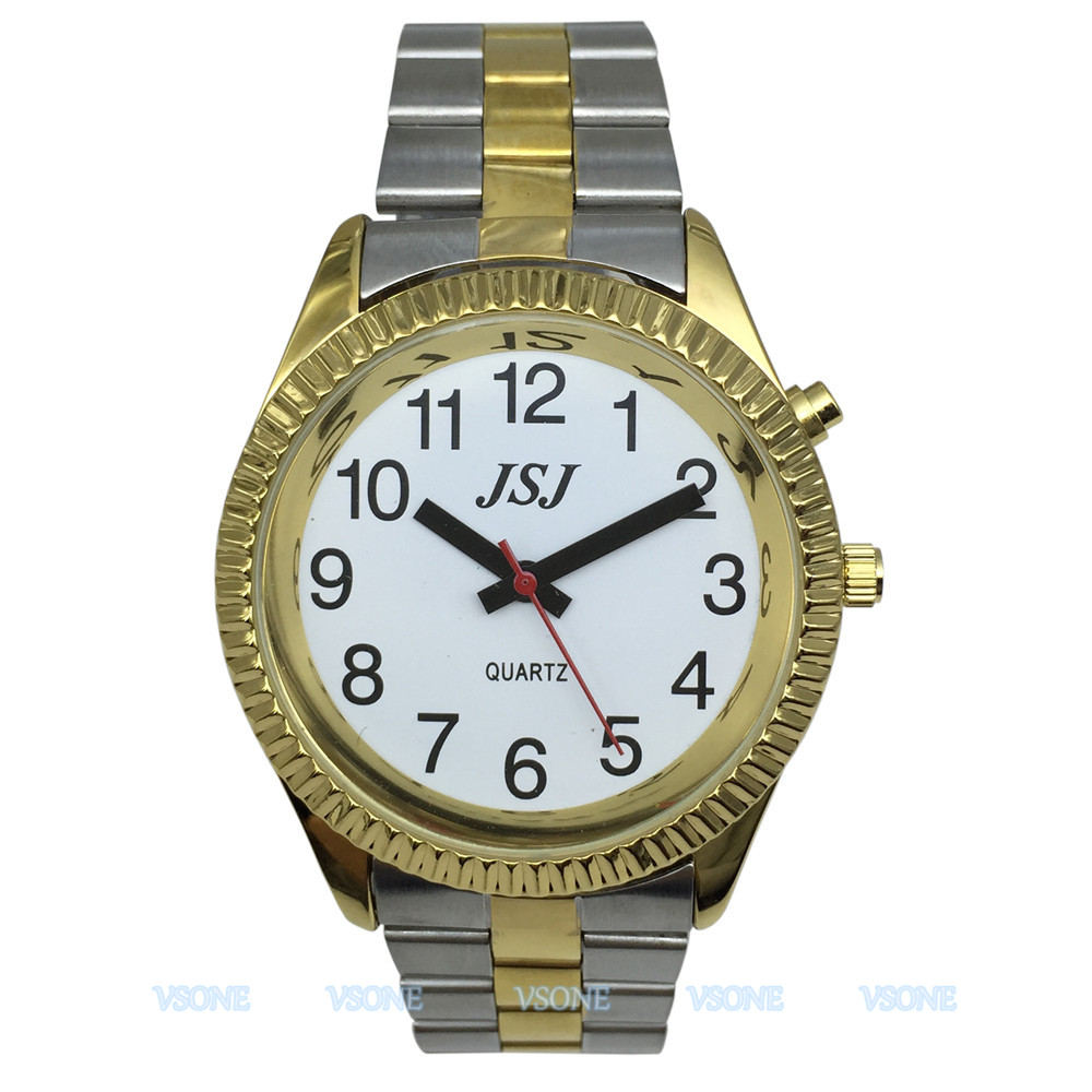 French Talking Watch For Blind People Or Visually Impaired People With Alarm Of Quartz, Talking Date And Time