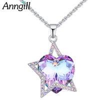 100% настоящие кристаллы от swarovski ожерелья и кулоны блестящая