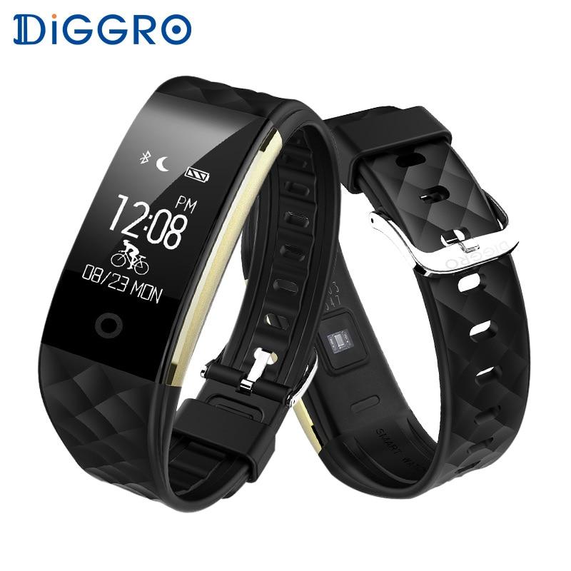 Diggro S2 Waterproof Sports Smart Heart Rate Bracelet Fitness Tracker Sleep Quality Monitor Call/Notification reminder Wristband