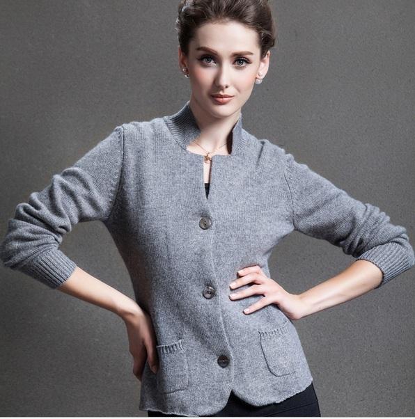Nuevo real chaqueta de cachemira suéter de cachemira pura suéter de invierno de la marca Envío Libre S416