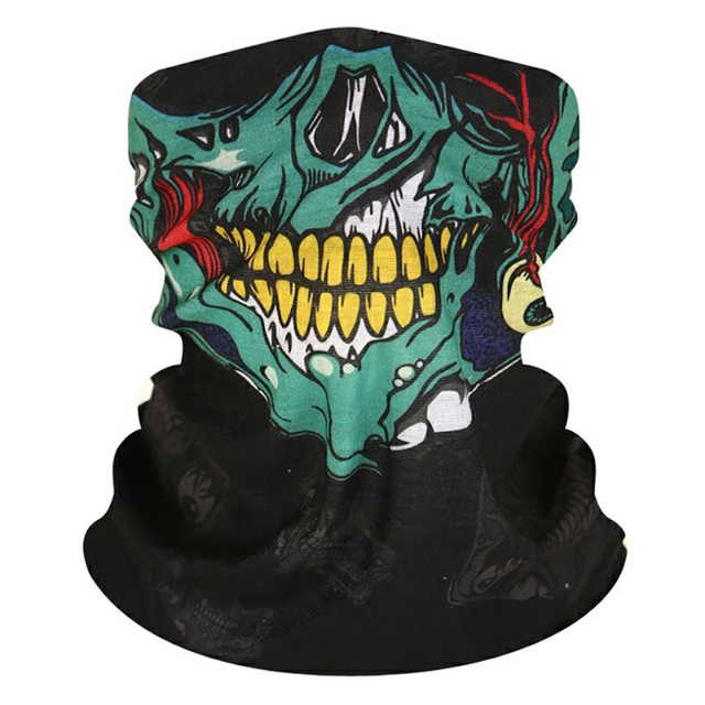 Vexverm Motorcycle  Face Mask Face Scarf Shield SKULL Ghost Face Windproof Mask Sun Mask Balaclava Party Bicycle Bike Masks