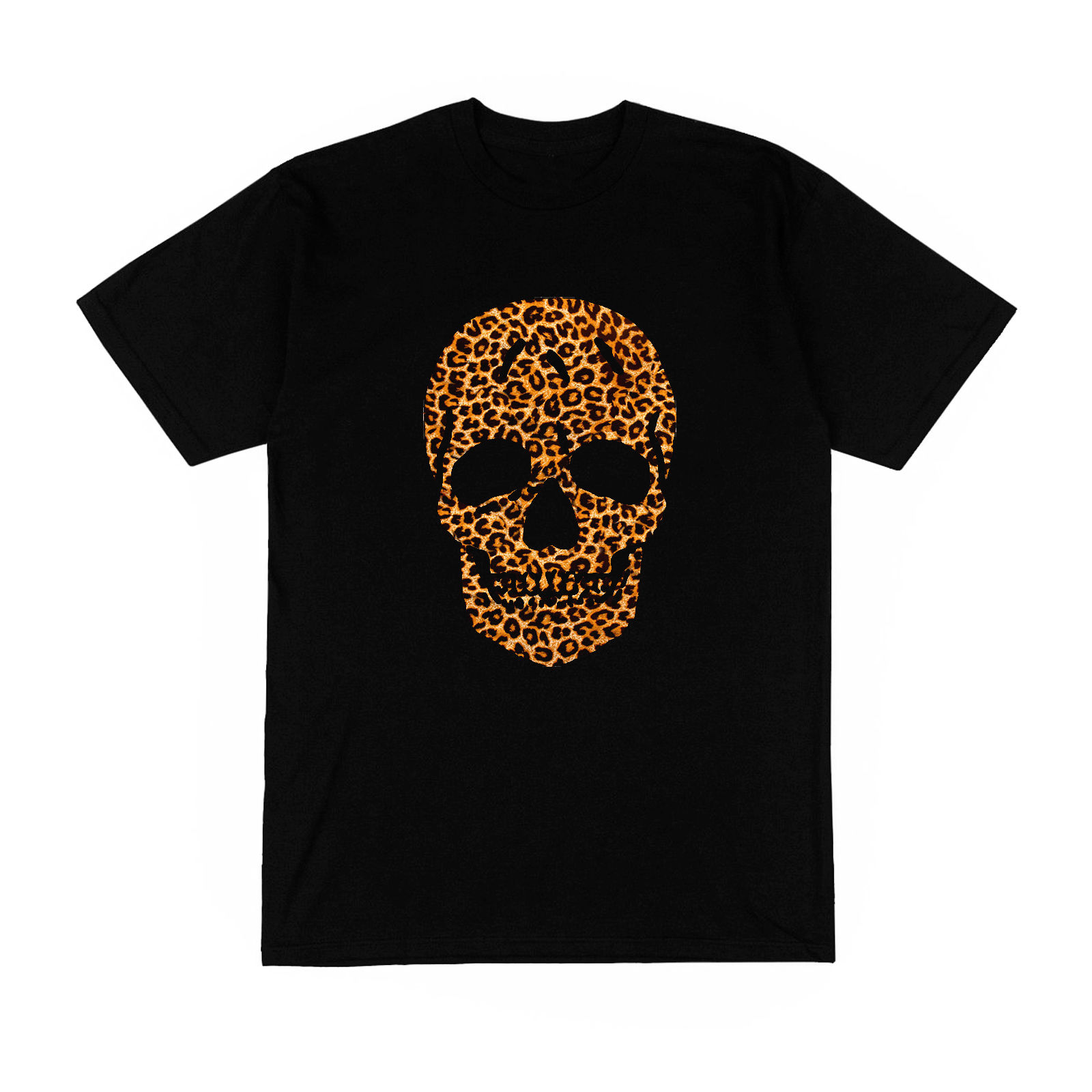 T-shirt Homme tete de mort crane humain leopard panthere luxe mode france paris ...