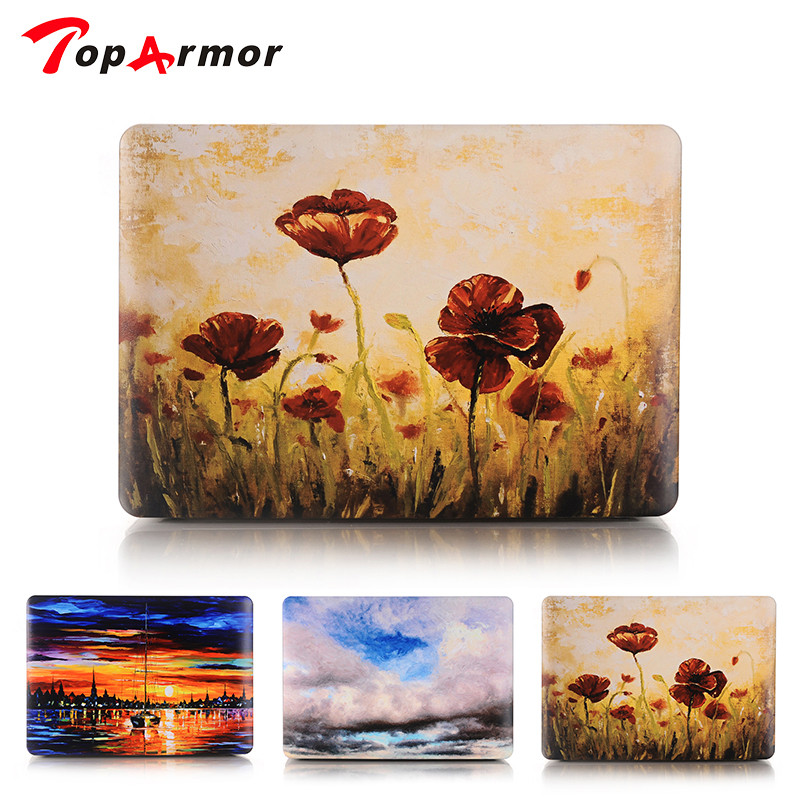 TopArmor New Print pattern Hard Case Cover Sleeve for MacBook Air 11 A1465/ air 13 inch A1466 pro 15 A1286 13.3 A1278 retina 12