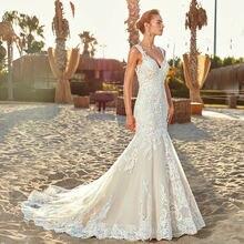 Женское винтажное кружевное свадебное платье с открытой спиной