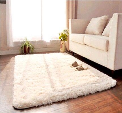 europe style épais super doux rectangle solide shaggy tapis anti