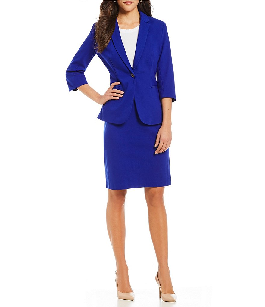 Underwear & Sleepwears Custom Made Royal Blue Black One Button 3/4 Sleeves Womens Skirt Suits Formal Suits Office Lady Suits 2 Piece Jacket/skirt Men's Sleep & Lounge