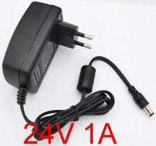 1pcs 24V 1A 24V 1000mA AC-DC Plugue DA UE ou DOS EUA ou do REINO UNIDO Adaptador Carregador para Vileda M-488A limpeza Robô SB35 fonte de Alimentação Adaptador