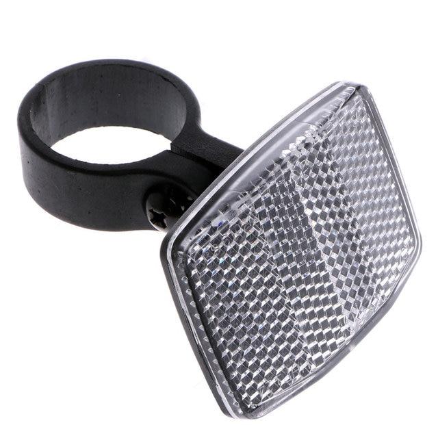 Bike Reflector Bicycle Handlebar Reflective Front Rear Safety Lens Warning Light