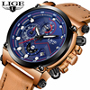 LIGE Watch Men S Fashion Business Quartz Clock Leather Mens Watches Top Brand Luxury Waterproof Sports